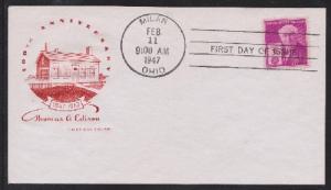 945 Thomas Edison House of Farnam FDC