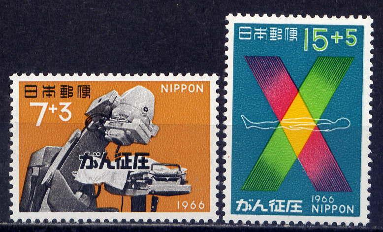 JAPAN Sc#B32-3 1966 Early Cancer Detection with X-Rays MNH