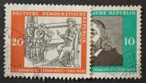 DDR Sc # 397-98, VF Used