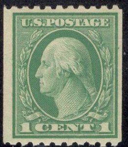 US Stamp #486 1c Washington Coil MINT Hinged SCV $.85
