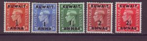 J20832 Jlstamps 1950-1 kuwait mh part of set mh 3 signed reverse #93-7 king ovpt