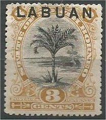 LABUAN, 1894, MH 3c, Sago Palm  Scott 51