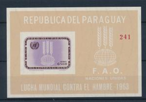 [35565] Paraguay 1963 freedom from hunger FAO Imperforated Souvenir Sheet MNH