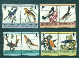 Montserrat MNH 580-3 Pairs Audubon Birds SCV 2.30