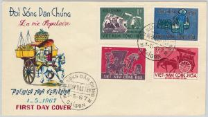 63112 - VIET NAM - POSTAL HISTORY - FDC COVER Scott # 307/10 - 1967  LABOR DAY