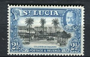 ST. LUCIA; 1936 early GV pictorial issue fine Mint hinged 2.5d. value