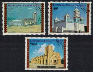 Upper Volta Mosques Churches 3v 1973 CTO MI#476-478