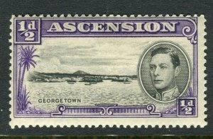 ASCENSION ISLAND; 1938 early GVI issue fine Mint hinged PERF 14, value 1/2d