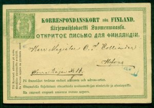 FINLAND Norma PK4, 8pen postal card, used, VF, Norma $58.00