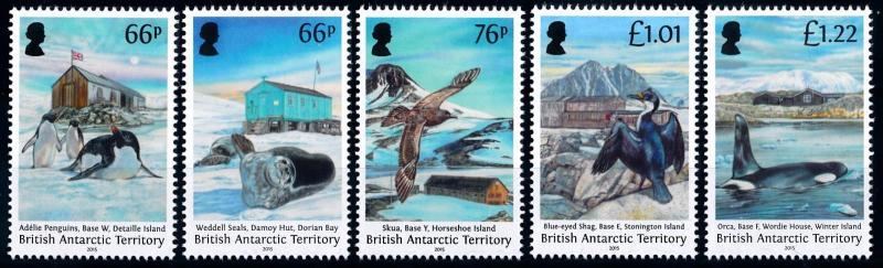 [66832] British Antarctic Territory 2015 Marine Life Orca Penguins Birds  MNH