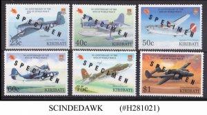 KIRIBATI - 1997 WORLD WAR II / AVIATION - 6V - MINT NH SPECIMEN