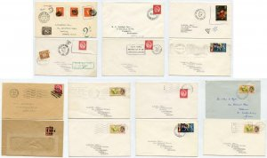 Modern GB Stamps Used Abroad x 14 Covers. Inc Obliterated Wildings, Dues etc