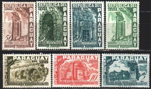 Paraguay. 1955. 732-44 from the series. Architecture. MLH.