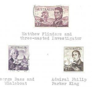 Australia #305 thru 389 Includes a OG #379 On Pages Used + Unused OG VF