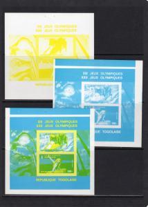 Togo 1979 Moscow Olympics 1980 Mi # Block 146 COLOR PROOFS (6+1 Original) MNH
