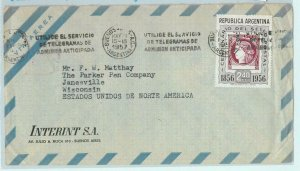 96812 - ARGENTINA - POSTAL HISTORY - Single Stamp AIRMAIL COVER to the USA 1957