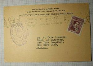 Argentina Notecard Official Secretary Public Health Endocrinology1950 SC#044 014