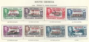 SOUTH GEORGIA  1944 Optd  SOUTH GEORGIA DEPENDENCY  OF   MMint.   (H-B2)