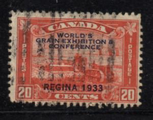 Canada Sc 203 1933 20c Regina Grain Conference stamp used