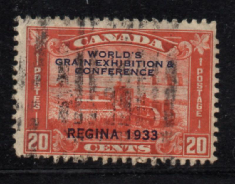 Canada Sc 203 1933 20c Regina Grain Conference stamp used