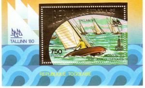 Togo 1980 Tallinn Olympics Sailing  Gold SS Perf.Mi.B158A