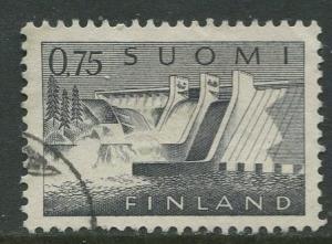Finland - Scott 409 - Power Station -1963- Used - Single 75p Stamp