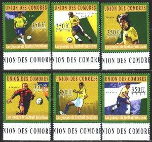 Comoro Islands. 2010. 2824-29. Football. MNH.
