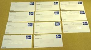 U075 22c U.S. Postage Envelopes Offical Business qty 11