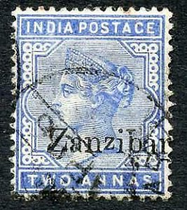 Zanzibar SG7 2a Blue Small second Z and inverted Q for B