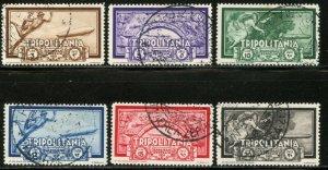 TRIPOLITANIA Sc#C21-C26 1933 Graf Zepplin Complete Set Used