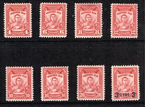 Philippines Stamp  1928 - 37  POSTAGE DUE MH/OG STAMPS LOT