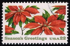 US #2166 Pointesettia Plants; Used (0.25)