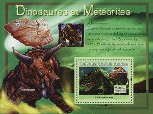 Dinosaur Stamp Albertosaurus Mineral NWA 085 Triceratops S/S MNH #4770 / Bl.1224