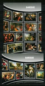 Maldive Islands - Paintings - BAROQUE - Set + S.S. - MNH