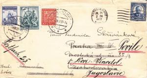 1937, Albuquerque, NM to Czechslovakia, See Remark (22618)