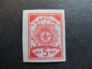 A4P25F4 Latvia Lettonia Lettland 1919 Unwmk 5k Pelure Paper mh*