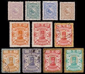P ersia Scott 90-100 (1894) Mint/Used H VF, CV $93.50 B