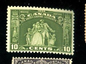CANADA 209 MINT FVF OG LH Cat $28