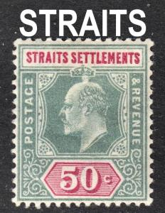 Malaya Straits Settlements Scott 101 dull green  F to VF mint OG HH.