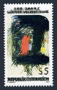 Austria 1386,MNH.Michel 1873. The Educated Eye,by Arnulf Rainer,1987.
