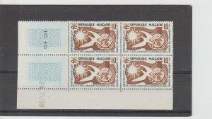 Malagasy Republic  Scott#  300  MNH  MNH  Block of 4  (1958 Human Rights)