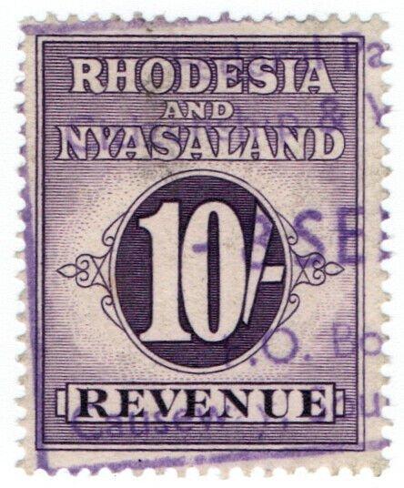(I.B) Rhodesia & Nyasaland Revenue : Duty Stamp 10/-