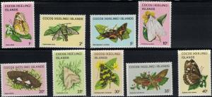 Cocos Islands SC87-102(16Values)Lovely Butterflies MNH 1982