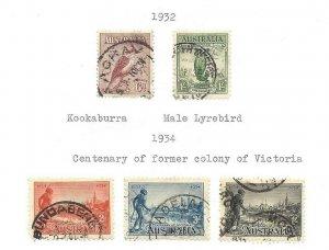 Australia #139 thru 144 +  Used VF