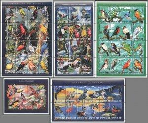PK143 MALI FAUNA BIRDS OISEAUX DU MONDE BL+4SH MNH STAMPS