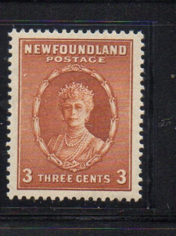 Newfoundland Sc 182 1932 3c Queen Mary stamp mint