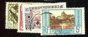 FRENCH POLYNESIA #101 109 119 130 USED FVF Cat $22