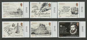 Jersey 2019 MNH Sir Walter Raleigh Governor 6v Set Boats Ships People Stamps