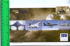 242099 BRITISH VIRGIN ISLANDS 100 years of FLIGHT PLANES 2003 year FDC