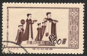 PEOP. REP. OF CHINA  152, LADY ATTENDANTS, USED. F-VF. (337)